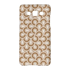 Retro Mirror Pattern Brown Samsung Galaxy A5 Hardshell Case