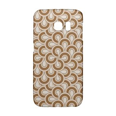 Retro Mirror Pattern Brown Galaxy S6 Edge by ImpressiveMoments