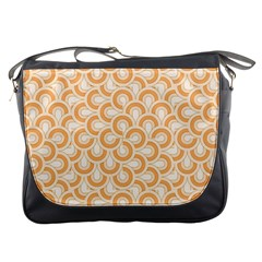 Retro Mirror Pattern Peach Messenger Bags by ImpressiveMoments