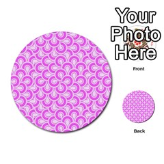 Retro Mirror Pattern Pink Multi Purpose Cards (round)  by ImpressiveMoments