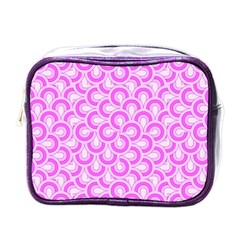 Retro Mirror Pattern Pink Mini Toiletries Bags by ImpressiveMoments