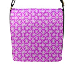 Retro Mirror Pattern Pink Flap Messenger Bag (l)  by ImpressiveMoments