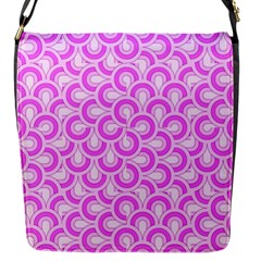Retro Mirror Pattern Pink Flap Messenger Bag (s) by ImpressiveMoments