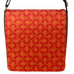 Retro Mirror Pattern Red Flap Messenger Bag (s) by ImpressiveMoments