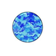 Camouflage Blue Hat Clip Ball Marker