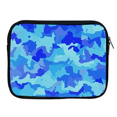 Camouflage Blue Apple Ipad 2/3/4 Zipper Cases by MoreColorsinLife