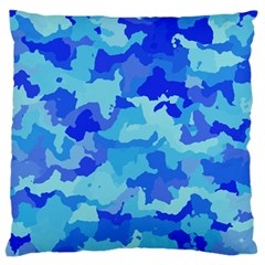 Camouflage Blue Standard Flano Cushion Cases (one Side)  by MoreColorsinLife
