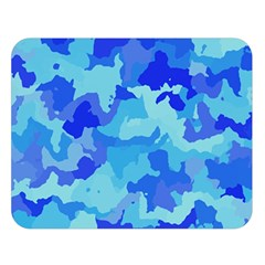 Camouflage Blue Double Sided Flano Blanket (large)