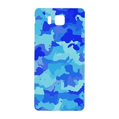 Camouflage Blue Samsung Galaxy Alpha Hardshell Back Case by MoreColorsinLife
