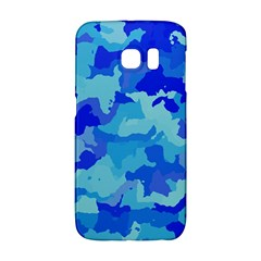 Camouflage Blue Galaxy S6 Edge
