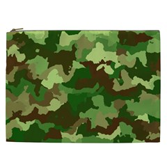 Camouflage Green Cosmetic Bag (xxl)  by MoreColorsinLife
