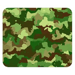 Camouflage Green Double Sided Flano Blanket (small)