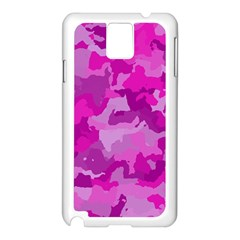 Camouflage Hot Pink Samsung Galaxy Note 3 N9005 Case (white) by MoreColorsinLife