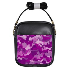 Camouflage Purple Girls Sling Bags by MoreColorsinLife
