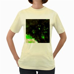 Space Like No 7 Women s Yellow T Shirt