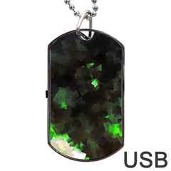 Space Like No 7 Dog Tag Usb Flash (two Sides)  by timelessartoncanvas