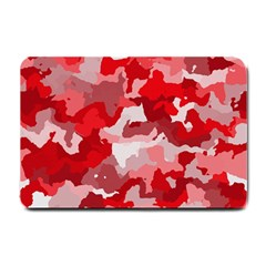Camouflage Red Small Doormat  by MoreColorsinLife