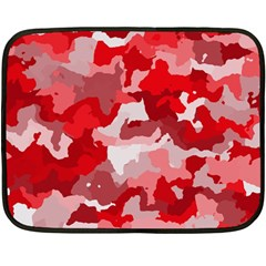 Camouflage Red Fleece Blanket (mini) by MoreColorsinLife