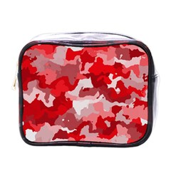 Camouflage Red Mini Toiletries Bags by MoreColorsinLife