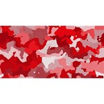 Camouflage Red BELIEVE 3D Greeting Card (8x4)  Front