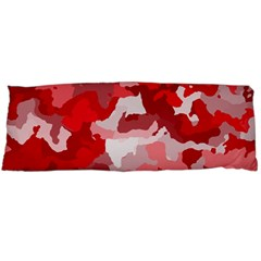 Camouflage Red Body Pillow Cases (dakimakura)  by MoreColorsinLife
