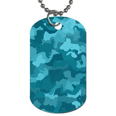 Camouflage Teal Dog Tag (two Sides) by MoreColorsinLife