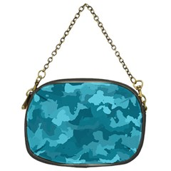 Camouflage Teal Chain Purses (one Side)  by MoreColorsinLife
