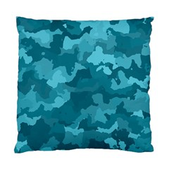Camouflage Teal Standard Cushion Cases (two Sides)  by MoreColorsinLife