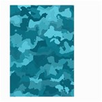 Camouflage Teal Large Garden Flag (Two Sides) Front