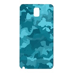 Camouflage Teal Samsung Galaxy Note 3 N9005 Hardshell Back Case by MoreColorsinLife
