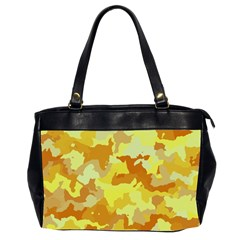 Camouflage Yellow Office Handbags (2 Sides)  by MoreColorsinLife
