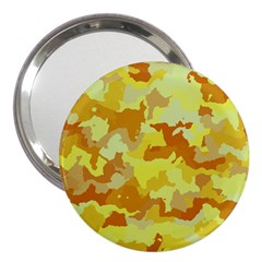 Camouflage Yellow 3  Handbag Mirrors by MoreColorsinLife