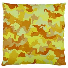 Camouflage Yellow Standard Flano Cushion Cases (one Side)  by MoreColorsinLife