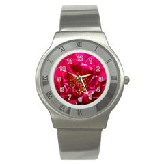 Red Rose Stainless Steel Watches by timelessartoncanvas