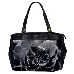 Black And White Rose Office Handbags by timelessartoncanvas
