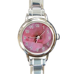 Pink Rose Round Italian Charm Watches