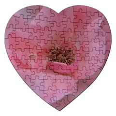 Pink Rose Jigsaw Puzzle (Heart)