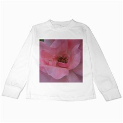 Pink Rose Kids Long Sleeve T Shirts