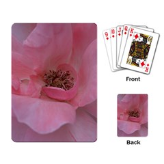 Pink Rose Playing Card by timelessartoncanvas