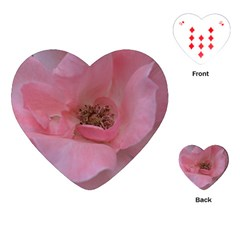 Pink Rose Playing Cards (Heart)