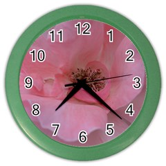 Pink Rose Color Wall Clocks