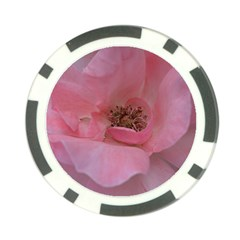 Pink Rose Poker Chip Card Guards by timelessartoncanvas