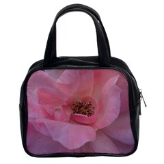 Pink Rose Classic Handbags (2 Sides) by timelessartoncanvas