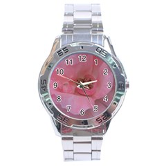 Pink Rose Stainless Steel Men s Watch