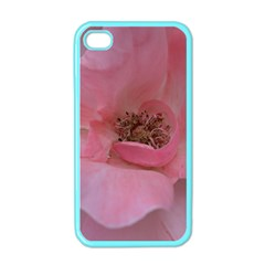 Pink Rose Apple Iphone 4 Case (color) by timelessartoncanvas