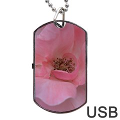Pink Rose Dog Tag USB Flash (Two Sides)