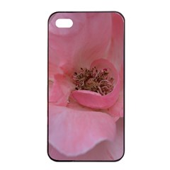 Pink Rose Apple Iphone 4/4s Seamless Case (black) by timelessartoncanvas