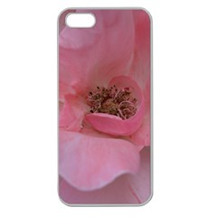 Pink Rose Apple Seamless Iphone 5 Case (clear) by timelessartoncanvas