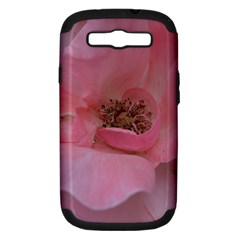 Pink Rose Samsung Galaxy S III Hardshell Case (PC+Silicone)