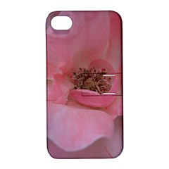 Pink Rose Apple iPhone 4/4S Hardshell Case with Stand